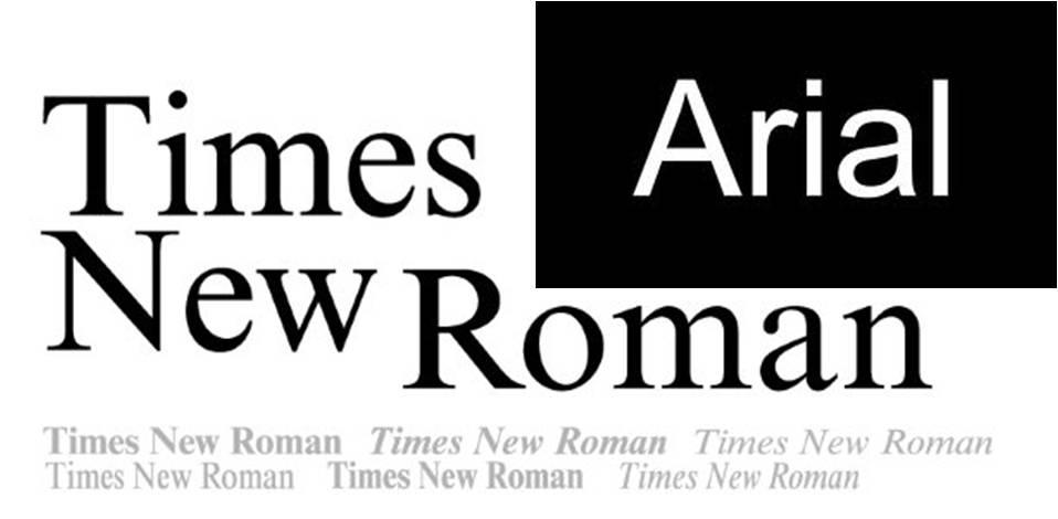 tipografia-Times-y-Arial
