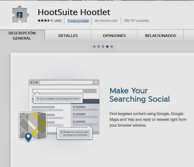 Hootsuite Hootlet Extension Google Chrome