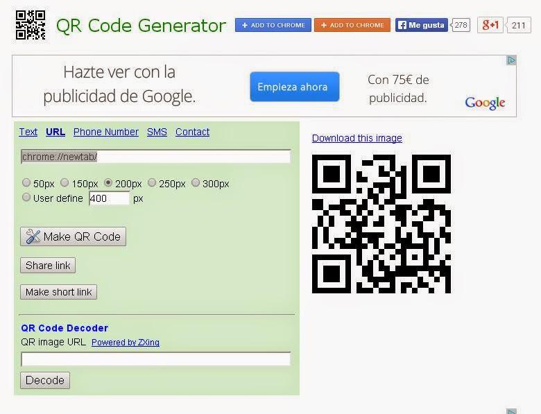 QR code generador.