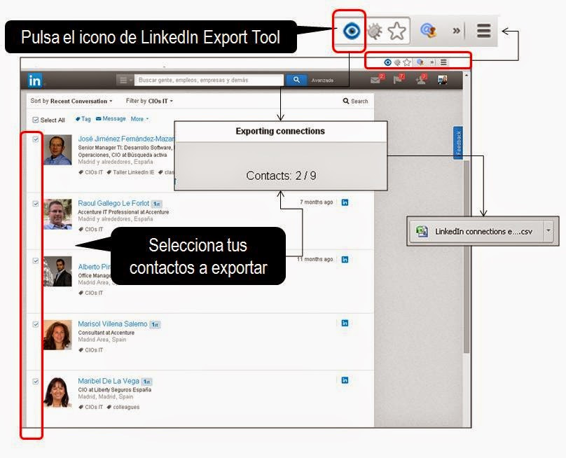 LinkedInexportcontacts