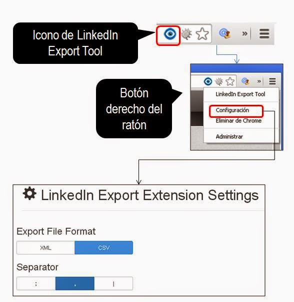 LinkedInexportsettings