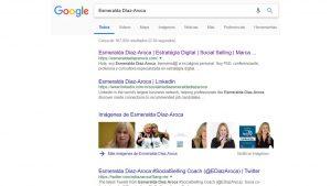 En qué posición aparece tu nombre en Google