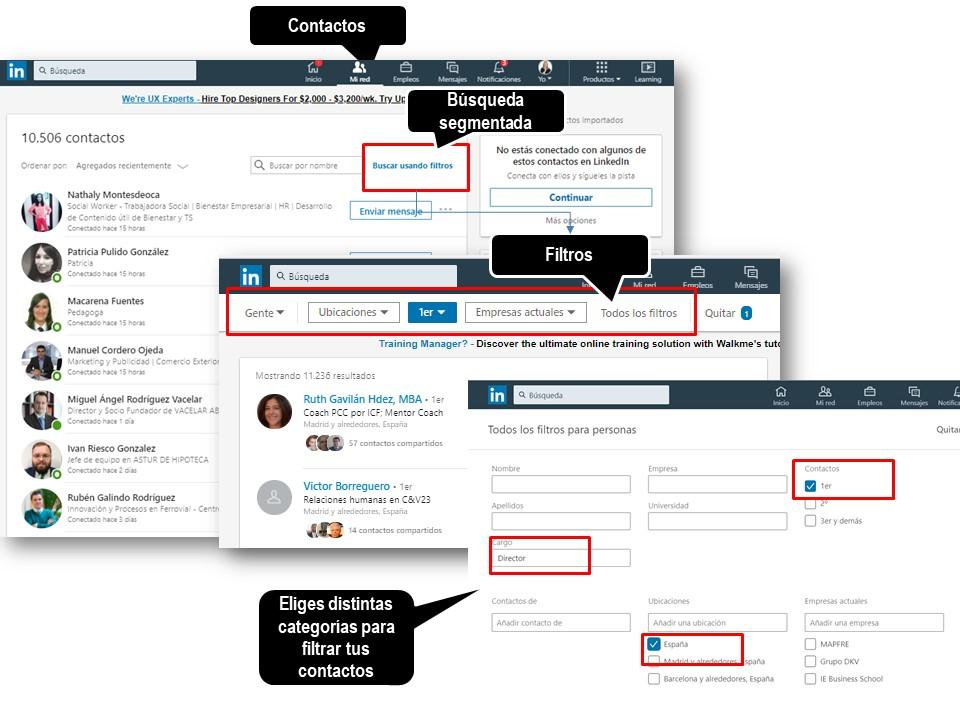 Búsqueda Avanzada por distintos elementos en LinkedIn