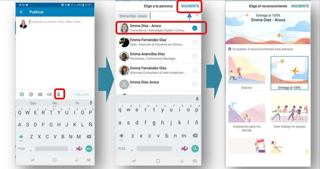 Cómo poder dar un reconocimiento en la app de LinkedIn