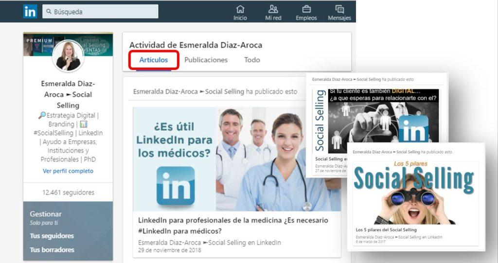 Articulos en LinkedIn Pulse de Esmeralda Diaz-Aroca