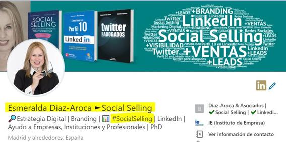 Titular y palabras clave en tu perfil de LinkedIn. Esmeralda Diaz-Aroca