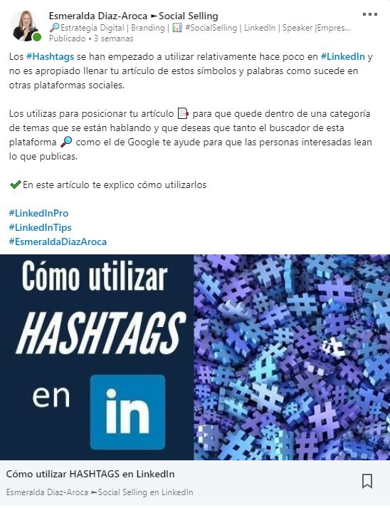 Promocionando Post de Pulse en LinkedIn