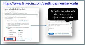 Como exportar contactos de LinkedIn | Ajustes y privacidad | Solicitar archivo | Social Selling